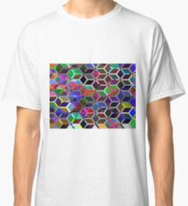Colourful Hexagons Seamless Background - 9000 x 6700 px, 300 dpi Classic T-Shirt