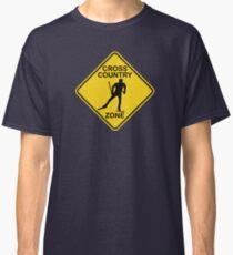 Skilanglauf-Zone-Verkehrsschild Classic T-Shirt