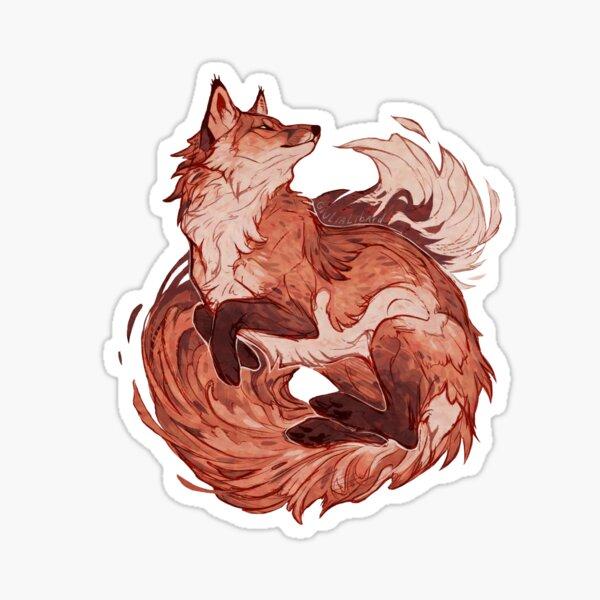 Red Fox 2018 volver a dibujar Pegatina