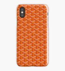 orange goyard iPhone Case