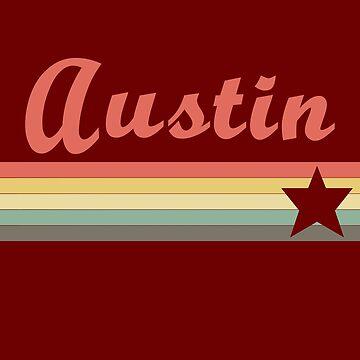 Austin Texas Retro Vintage T-Shirt by pashtyc