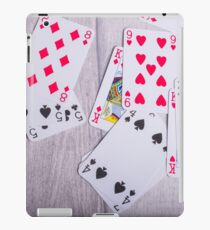 Playing Cards on Wood iPad Case/Skin