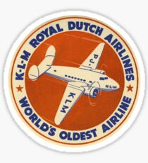 KLM - Royal Dutch Airlines Sticker