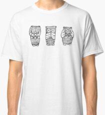 Hear, See, Speak No Evil Owl Classic T-Shirt