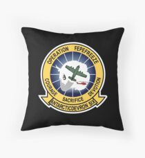 Operation Deep Freeze Parody Patch Throw Pillow