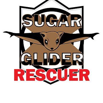 Sugar Glider Rescuer T-Shirt by SummitCompany