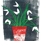 The Snowdrops by Mireille  Marchand