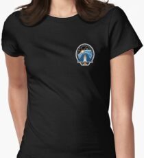Space Mission Parody Patch No. 2 Women's Fitted T-Shirt