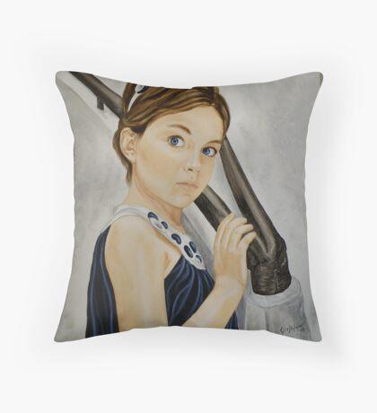 little girl Throw Pillow