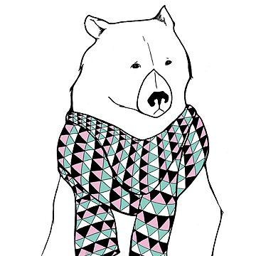 Bear in a Scarf by VeeraNoir
