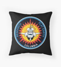 Space Mission Parody Patch No. 5 Throw Pillow