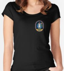 Space Mission Parody Patch No. 6 Women's Fitted Scoop T-Shirt