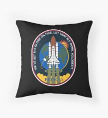 Space Mission Parody Patch No. 6 Throw Pillow