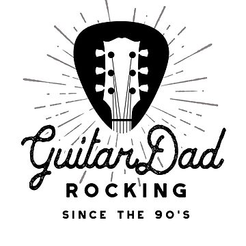 Rock And Roll Dad 90s Guitar Headstock Logo by SunnyStreet