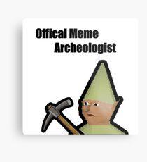Meme Archeologist Metal Print