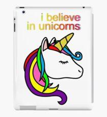 unicorns believe kids iPad Case/Skin