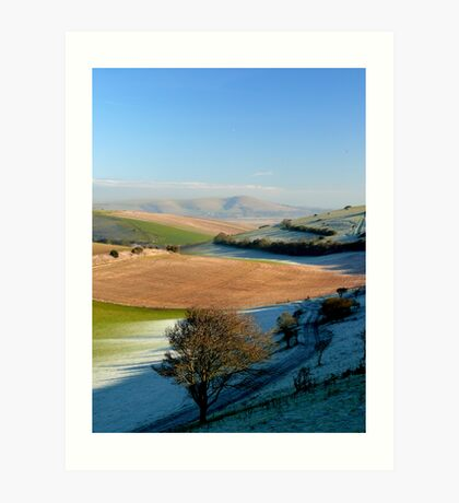 Mount Caburn from the Telscombe Road Art Print