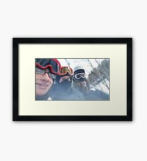 skiing was fun... Framed Print