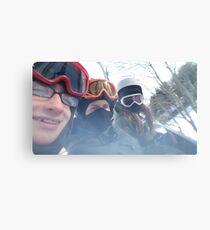 skiing was fun... Canvas Print