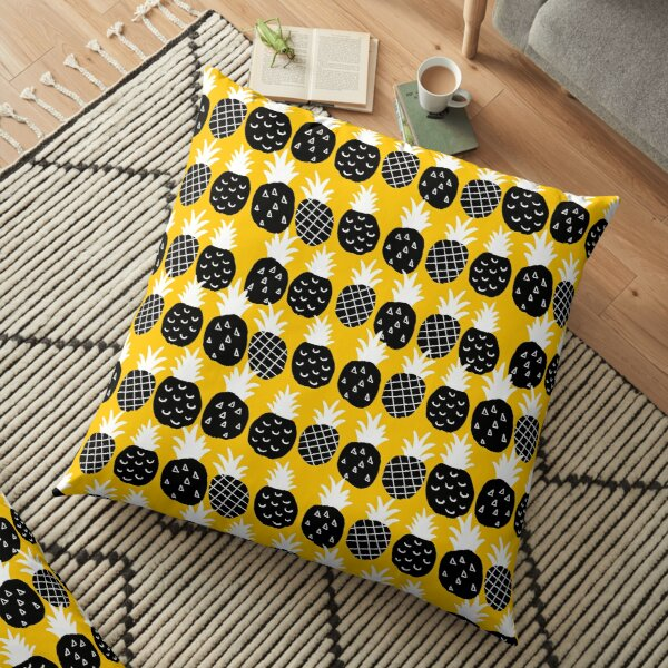 Black pineapple Floor Pillow