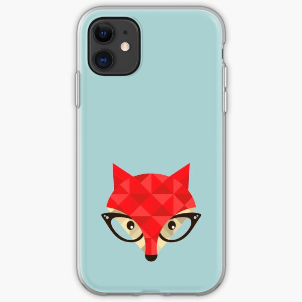 Hipster fox iPhone Soft Case