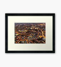City Lights, London, United Kingdom Framed Print