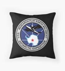 Space Mission Parody Patch No. 9 Throw Pillow