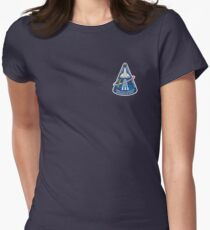 Space Mission Parody Patch No. 10 Women's Fitted T-Shirt