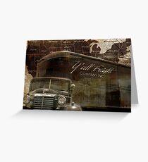 Vintage Trucker Road Travel USA Greeting Card