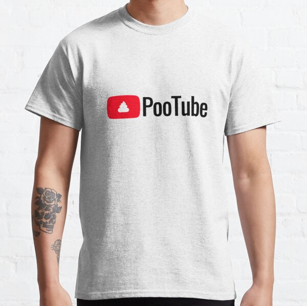 In Those Awkward Social Moments, Reach For PooTube - Reliable & Rewarding! Classic T-Shirt