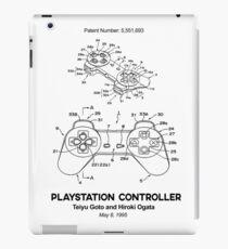 Playstation Controller Patent Black iPad Case/Skin