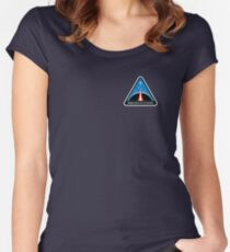 Space Mission Parody Patch No. 8 Women's Fitted Scoop T-Shirt