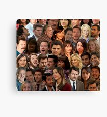 Parks And Rec Collage  Canvas Print