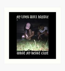 $uicideboy$ MY LIVER WILL HANDLE WHAT MY HEART CANT (white)  Art Print