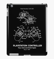 Playstation Controller Patent White iPad Case/Skin