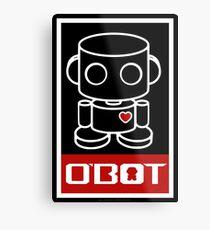 O'bot Spread Love 1.0 Metal Print