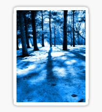 Blue Forest Natural Light and Shadow Sticker