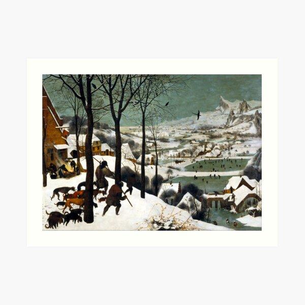 Pieter Bruegel the Elder Hunters in the Snow Art Print