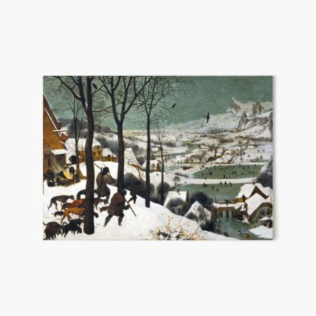 Pieter Bruegel the Elder Hunters in the Snow Art Board Print