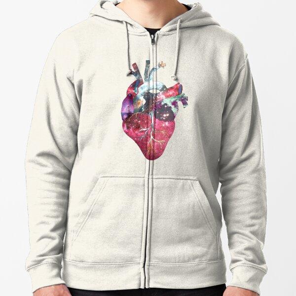 Superstar Heart (on grey) Zipped Hoodie