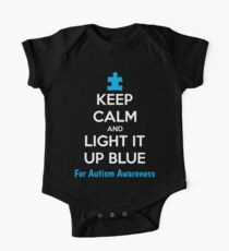 Keep Calm And Light It Up Blue For Autism Awareness Kids Clothes