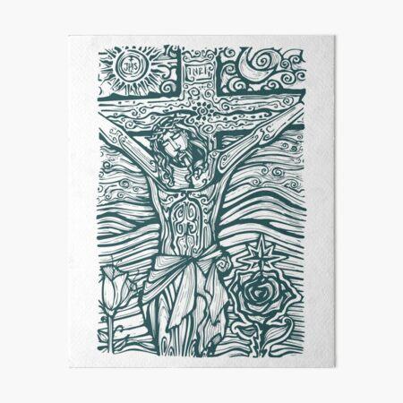 Jesus Christ illustration Art Board Print
