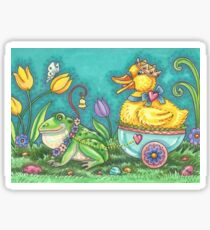 FROG AND EASTER DUCK PRINCE  Sticker
