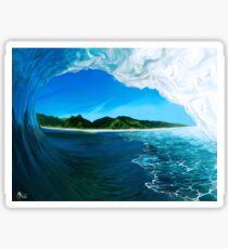 Tahiti desde un tubo Sticker