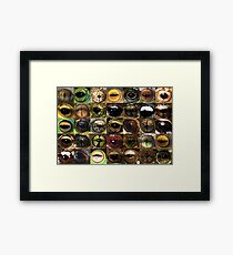 Frog eyes Framed Print