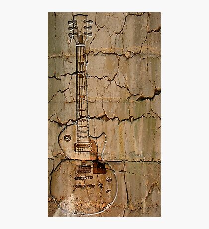 guitar cracks Photographic Print