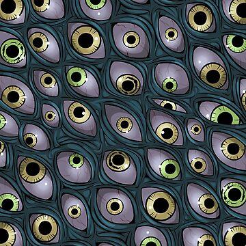 Eldritch Eyes Pattern by tindalosmalakia