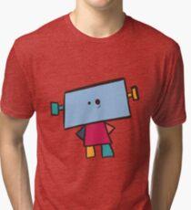 Rainbow Robot. Tri-blend T-Shirt