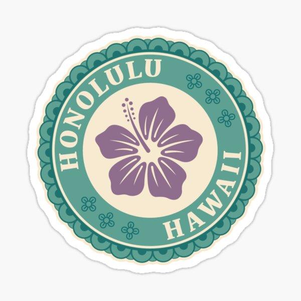 Honolulu Hawaii Badge Sticker