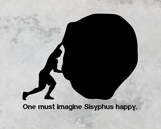 Sisyphus - Albert Camus von 5pennystudio